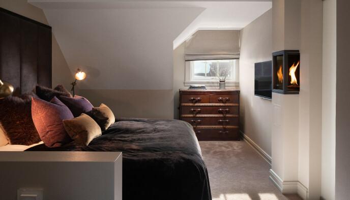 SOVEROM: Et av luksusleilighetens tre soverom. Foto: Pål Harald Uthus