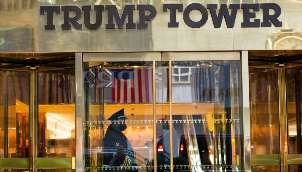 TRUMPS RESIDENS: Trump Tower på Manhattan i New York var i en årrekke Trumps bostedsadresse. I 2019 meldte han imidlertid flytting til Mar-a-Lago i Florida. Foto: Kena Betancur / AFP / NTB