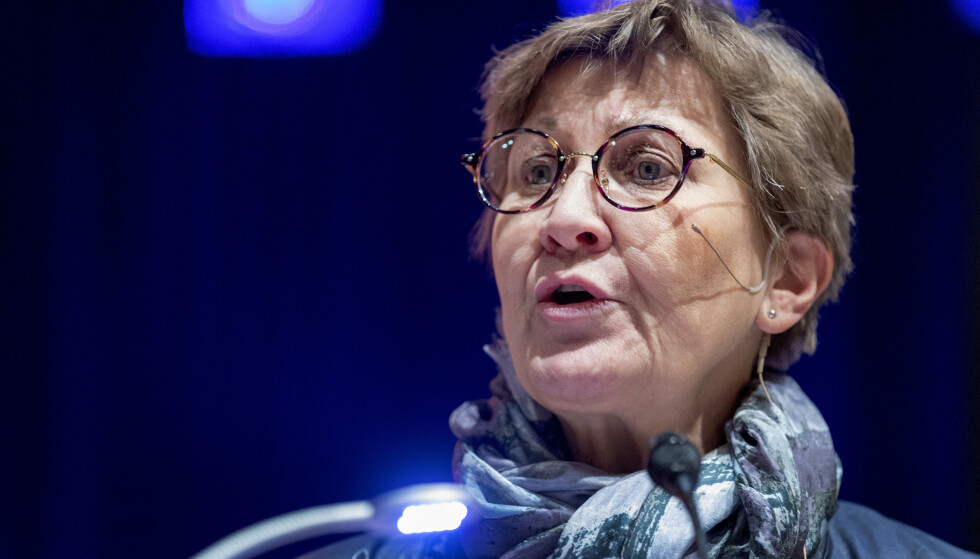 ENORMT: Det er Fagforbundet, som Mette Nord leder, som har bestilt meningsmålingen. Hun mener regjeringen har prioritert de rike. Foto: Gorm Kallestad / NTB