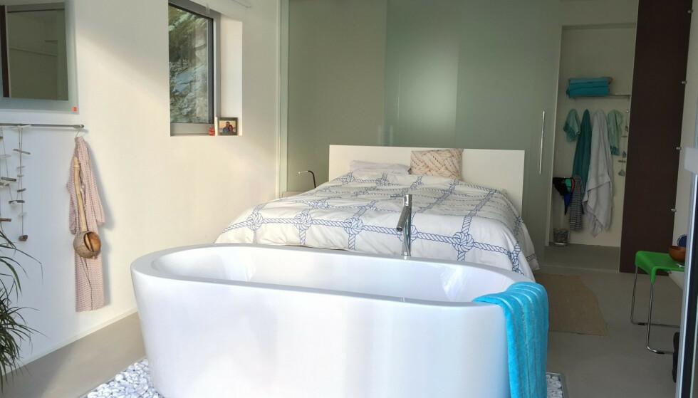 PRIVAT: Slik ser soverommet vanligvis ut. Huset rommer 130 kvadratmeter og har åtte sengeplasser. Foto: Bjørn Kringstad