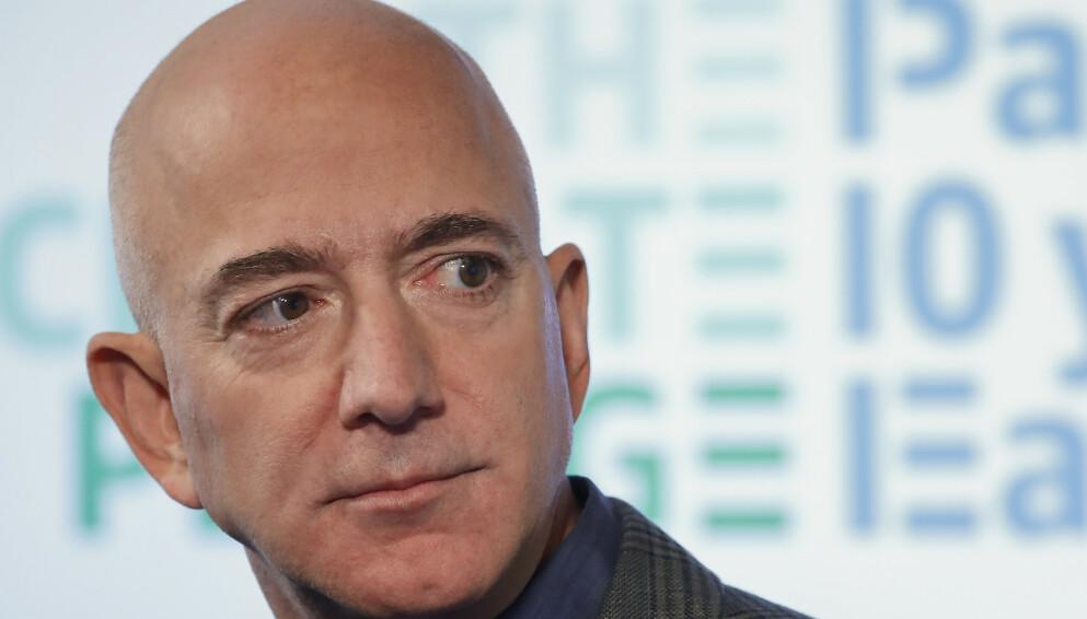 AMBISJONER: Jeff Bezos hevder han skal gjøre Amazon til verdens beste arbeidsplass, men fagforeningstopp tviler på at det er noe annet enn nok et PR-utspill. Arkivoto: Pablo Martinez Monsivais, AP / NTB