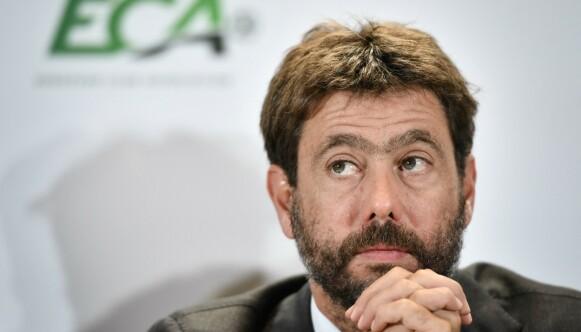 SJEF: Andrea Agnelli, Juventus-direktøren, er blant sjefene for den nye superligaen. Foto: FABRICE COFFRINI / AFP