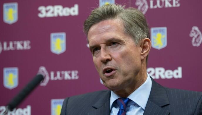 REAGERER: Aston Villa-direktør Christian Purslow. Foto: Anna Gowthorpe/BPI/REX
