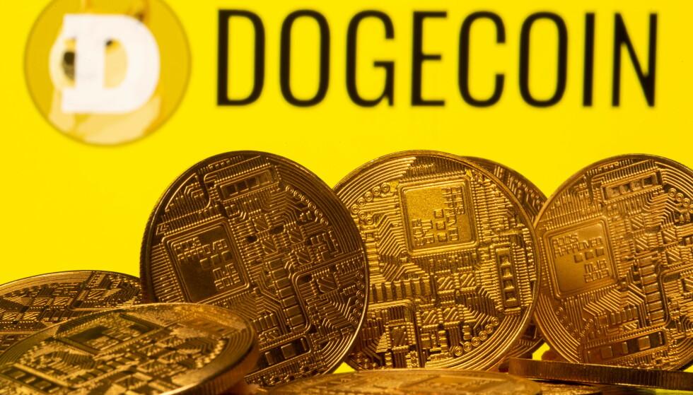 TULLEPENGER: Dogecoin var ment som en parodi på Bitcoin, men har blitt svært god butikk for investorene. Foto: REUTERS/Dado Ruvic/Illustration