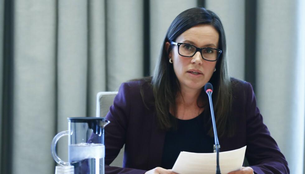 REAGERER: Ordfører Marianne Sivertsen Næss (Ap) i Hammerfest kommune sier det er viktig at Petroleumstilsynet har gitt Equinor et pålegg etter Melkøya-brannen. Foto: Terje Pedersen / NTB