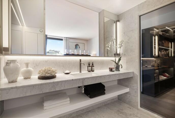 BAD: Badet i leiligheten. Foto: Studio Oslo / Roger Sandvær