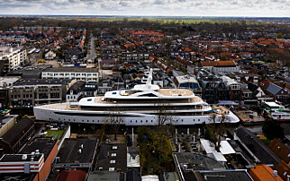 Superyacht-bildet går verden rundt