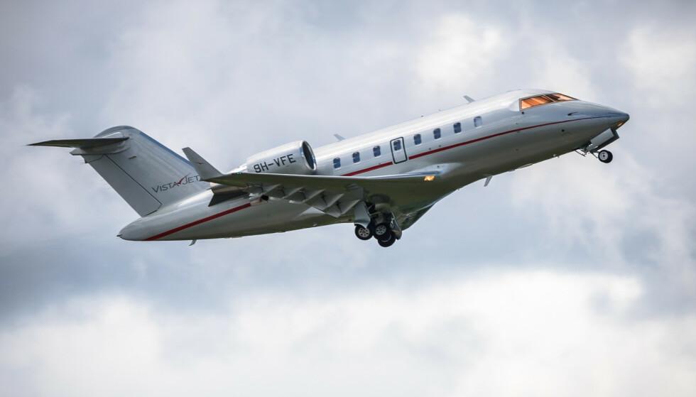 HADE BRA: Et privatfly fra VistaJet letter. Pressebilde: VistaJet