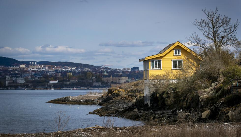 ENSOM MAJESTET: Minihyttene i Oslofjorden ligger kort vei fra Aker Brygge med ferje, noe som er med å bidra til interessen. Du skal riktignok bla opp flere millioner for å sikre deg et objekt. Foto: Bjørn Langsem / Dagbladet