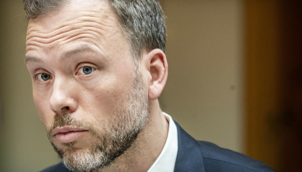 - FORVIRRET OG TILFELDIG: SV-leder Audun Lysbakken sier dommen over regjerningen i Bergen Engines-saken er hard. Foto: Hans Arne Vedlog / Dagbladet