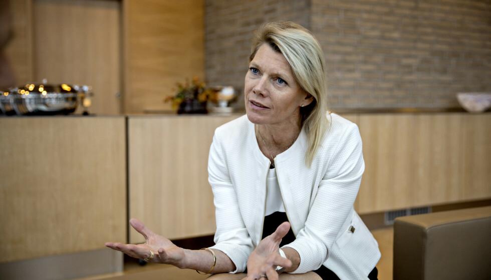 MILLION-BONUS: DNB-sjef Kjerstin R. Braathen hadde en samlet godtgjørelse på 13,7 millioner kroner i fjor. 3,2 millioner kroner av dette var bonus. Foto: Jørn H Moen / Dagbladet