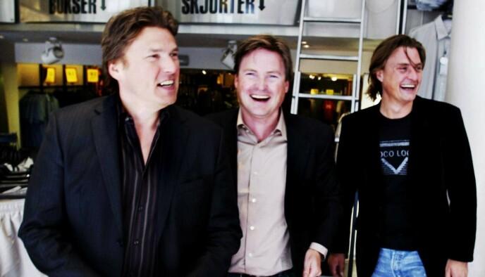 ARVINGER: Varner-brødrene Petter (58), Marius (55) og Joakim (47) har alle tjent seg søkkrike på konsernet som deres far, Frank Varner, i sin tid bygget opp. Her avbildet sammen i 2004. Foto: Stein J. Bjørge / Aftenposten / NTB
