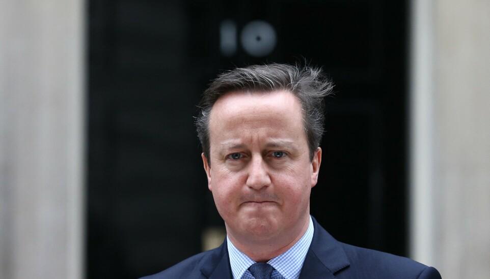 56 MELDINGER: David Cameron sendte 56 meldinger til senatorer og tjenestemenn for å drive lobbyvirksomhet for selskapet Greensill. Han anklages for å ha utnyttet sin posisjon som tidligere statsminister. Foto: Justin Tallis/ AFP/ NTB.
