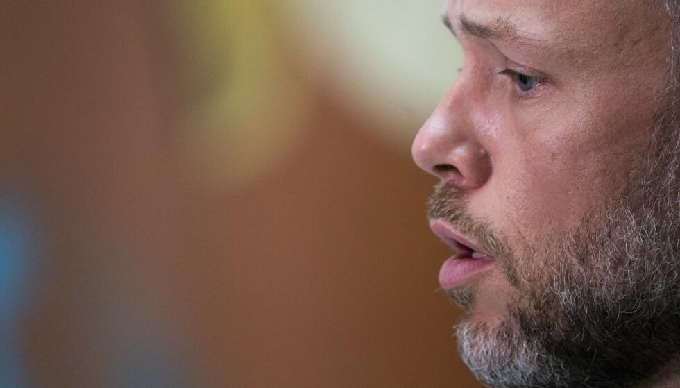 LOVER: SV-leder Audun Lysbakken lover sterkere lut mot skatteflukt og høyere skatt for landets rikeste. Foto: Terje Pedersen / NTB