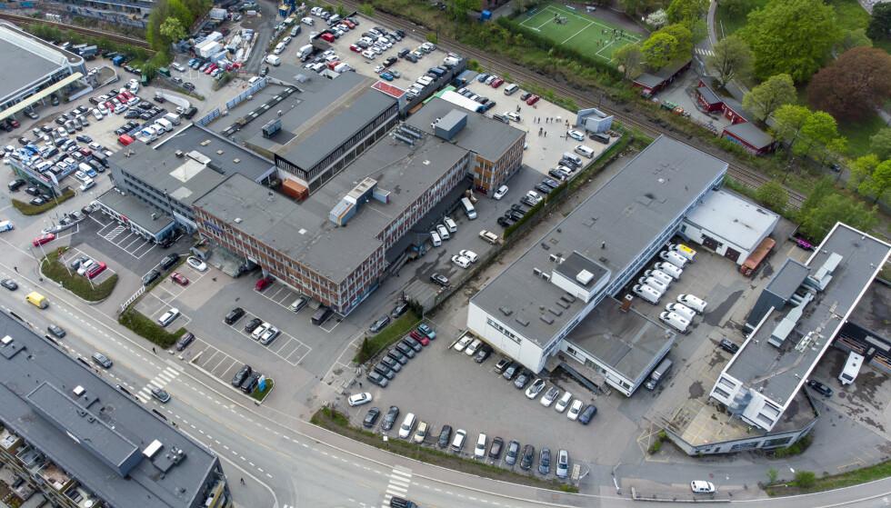 SKAPER SPLID: NRK har kjøpt denne tomta for 800 millioner kroner av eiendomsfirmaene Ferd Eiendom og Axer Eiendom. Foto: Cornelius Poppe / NTB