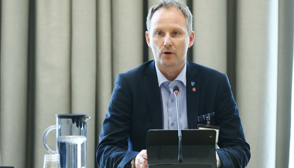 POSITIV: Ordfører Remi Solberg i Vestvågøy kommune. Foto: Terje Pedersen / NTB