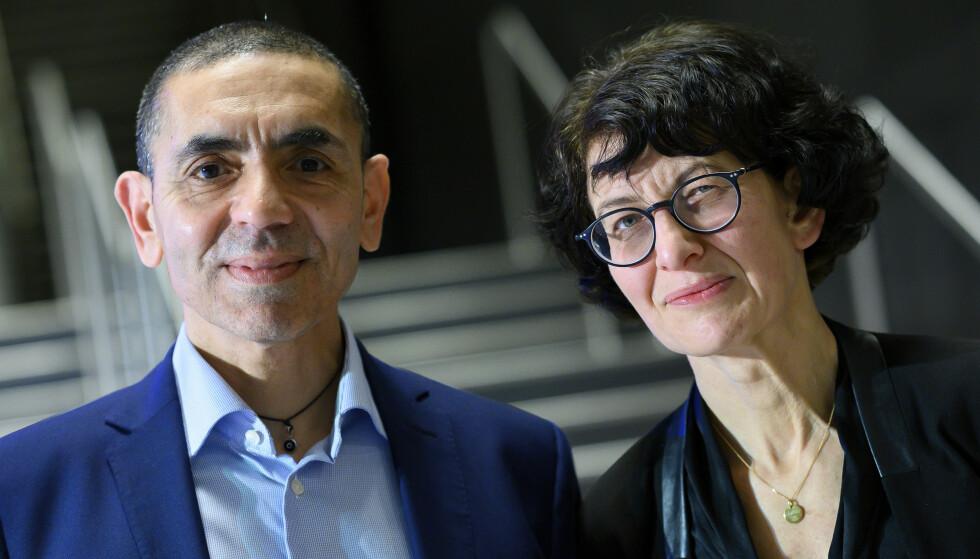 EKTEPAR: Ugur Sahin og kona Ozlem Tureci grunnla Biontech i 2018. Foto: AP / NTB