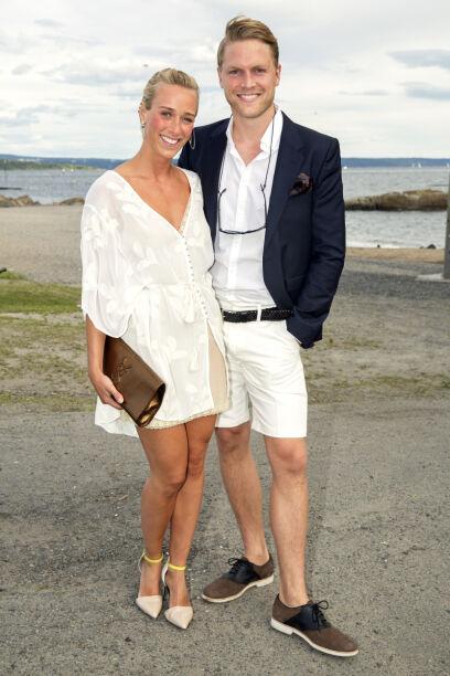 SOMMERFEST: Katarina Flatland og kjæresten Harald M. Dobloug under ELLEs sommerfest i 2014. Foto: Espen Solli