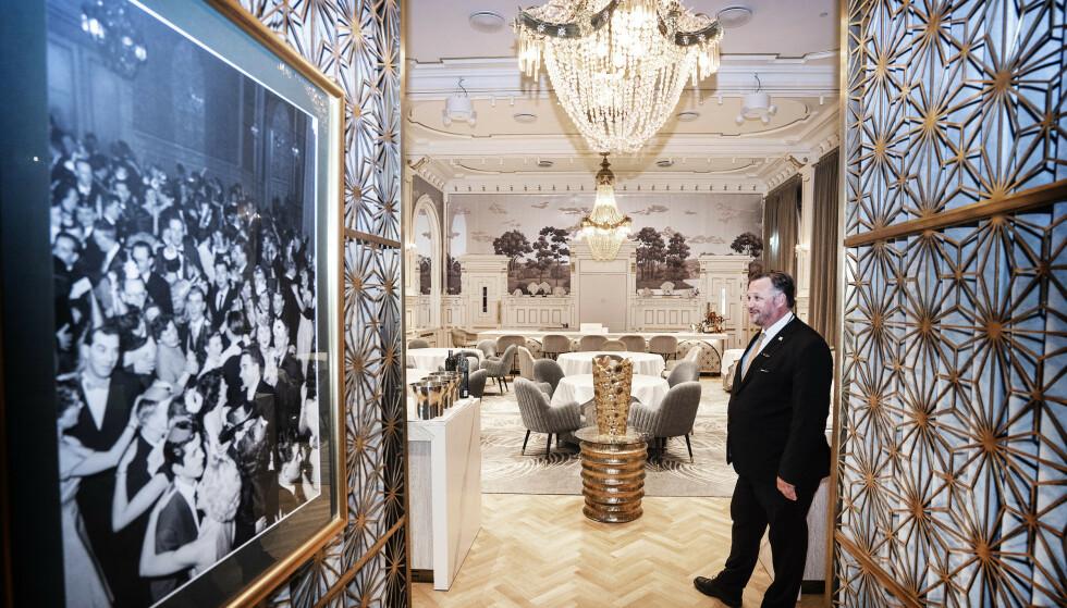 SPEILSALEN: En av Britannias seks restauranter holder til i den ærverdige Speilsalen i hotellet, og ble i fjor hedret med en Michelin-stjerne. Hans Arne Vedlog / Dagbladet
