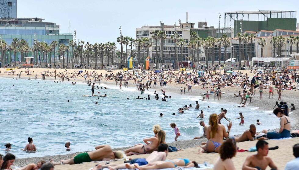 GLADMELDING: Spania åpner mandag grensene for fullvaksinerte turister. Foto: Pau BARRENA / AFP / NTB