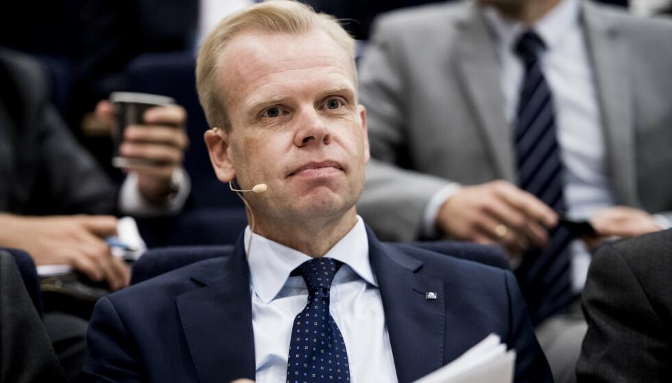 BLIR PRESIDENT: Svein Tore Holsether, konsernsjef i Yara International ASA, er valgt som ny president i NHO. Foto: Jon Olav Nesvold / NTB