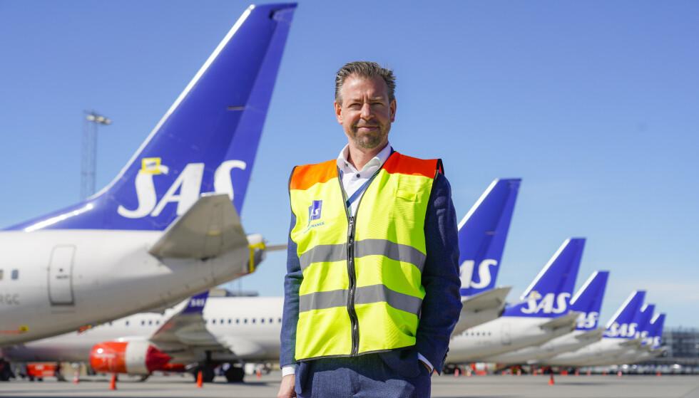 GARDERMOEN: Pressesjef John Echoff i SAS, avbildet på Oslo lufthavn. Foto: Håkon Mosvold Larsen / NTB
