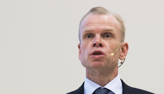SAMLING: NHO-president Svein Tore Holsether ønsker en plan for en samlet innsats for økt norsk eksport. Foto: Terje Pedersen / NTB