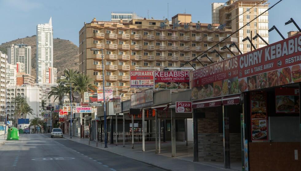 FEBRUAR 2021: Stengte barer og butikker i Alicante. Foto: Fer Capdepon Arroyo/Pacific Press/Shutterstock / NTB