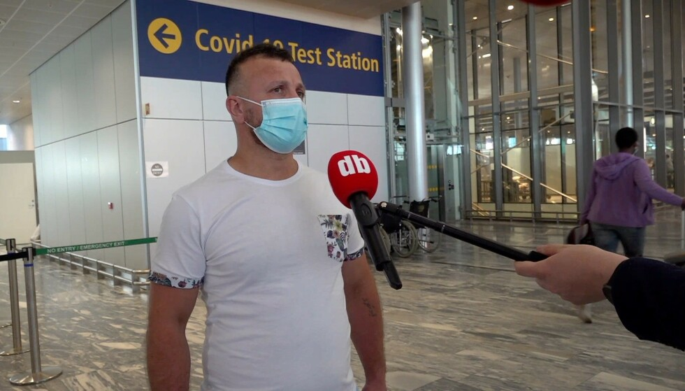TRE TIMER: Delshad Hassan var på Gardermoen tre timer før avreise for å ta en coronatest. Foto: Christian Fjermeros / Dagbladet
