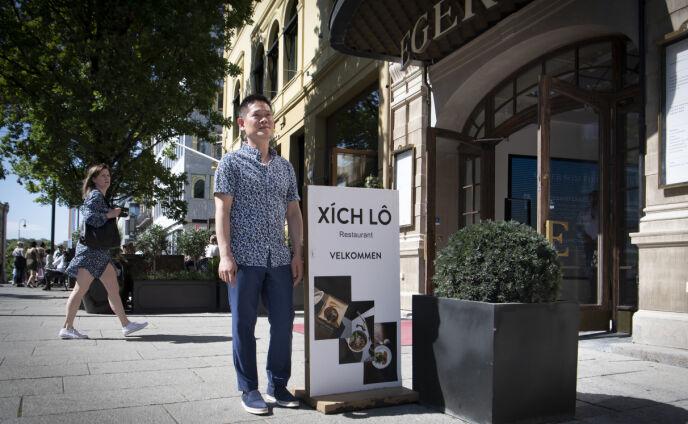 SLUTT: Tri Hai Le måtte stenge dørene for den vietnamesiske gourmetrestauranten Xich Lo i Oslo sentrum etter coronasmell og disputt med gårdeier. Foto: Lars Eivind Bones / Dagbladet