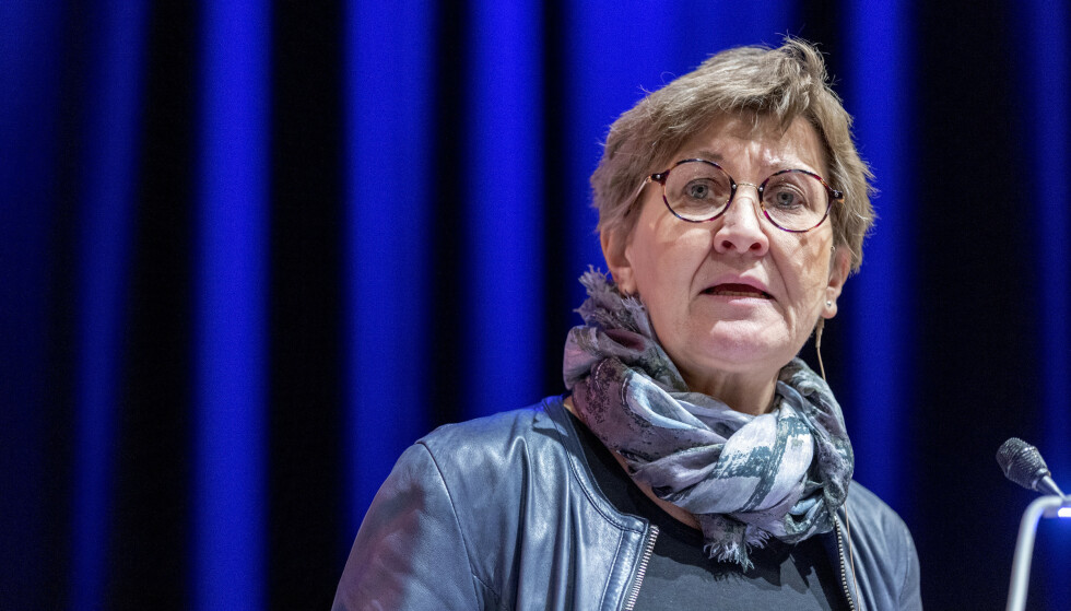 JUBEL: Fagforbundets leder Mette Nord kaller Stendi-dommen en brakseier. Foto: Gorm Kallestad / NTB