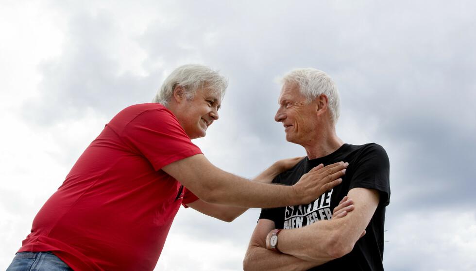 KOLLEGER: Eirik Reberg får 60 ukers betalt ferie etter kamp om rettighetene sine. Her med Kim Pilgaard, som også vant fram med solide krav mot Stendi. Foto Kristin Svorte