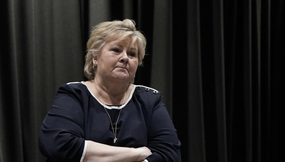 KRITIKK: Erna Solbergs regjering får klar melding fra NHO-foreningen Abelia. Foto: Hans Arne Vedlog