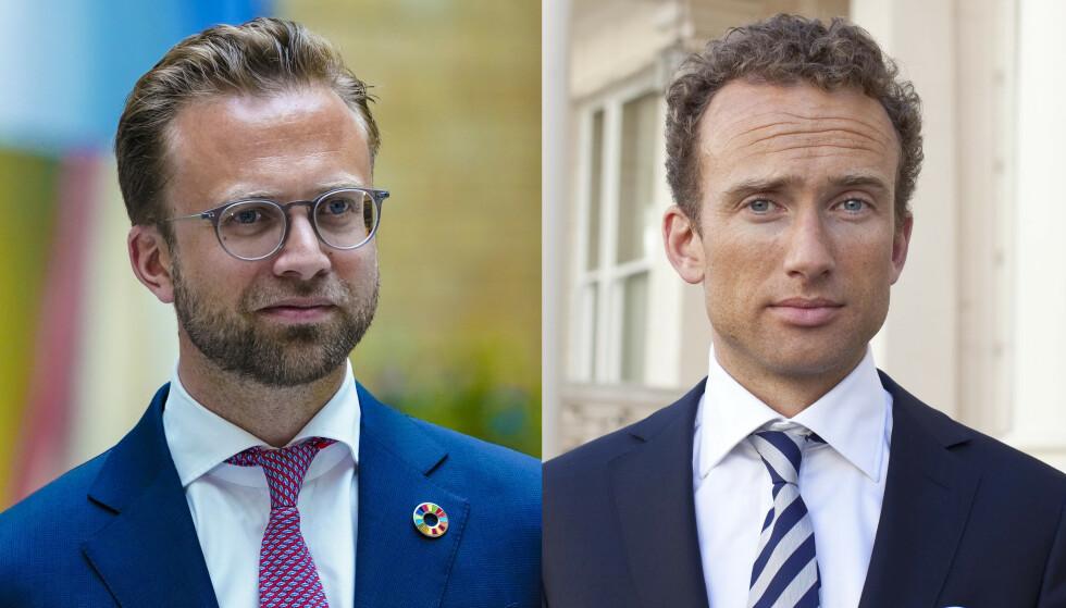 BROR: Morten Eivindssøn Astrup (t.h.) er broren til kommunal- og moderniseringsminister Nikolai Astrup. Foto: Lise Aaserud / NTB og Rex / Shutterstock editorial / NTB