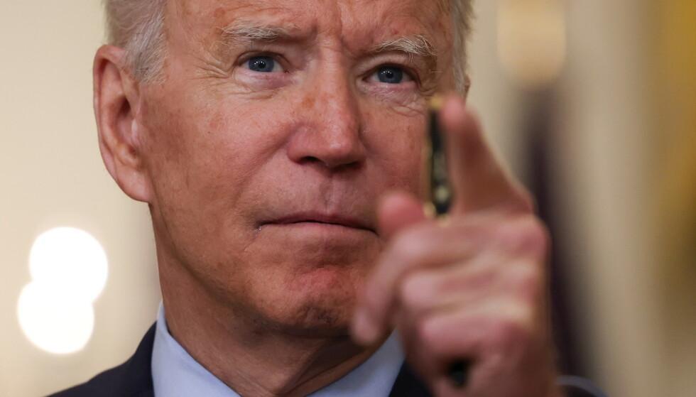 ORDRE: President Joe Biden skal etter planen underskrive en presidentordre om økt konkurranse i USA fredag. Foto: Evelyn Hockstein / Reuters / NTB
