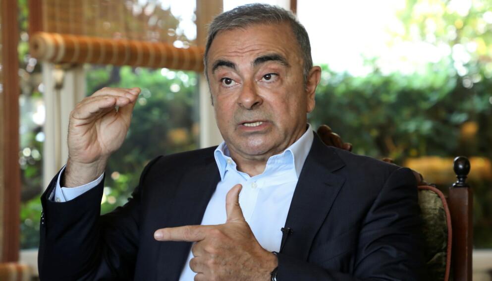 RØMTE: Tidligere toppsjef i Nissan, Carlos Ghosn, betalte en elitesoldat over ti millioner kroner for å hjelpe ham ut av Japan på utrolig vis. Nå snakker han ut om hendelsen. Foto: Mohamed Azakir / Reuters / NTB