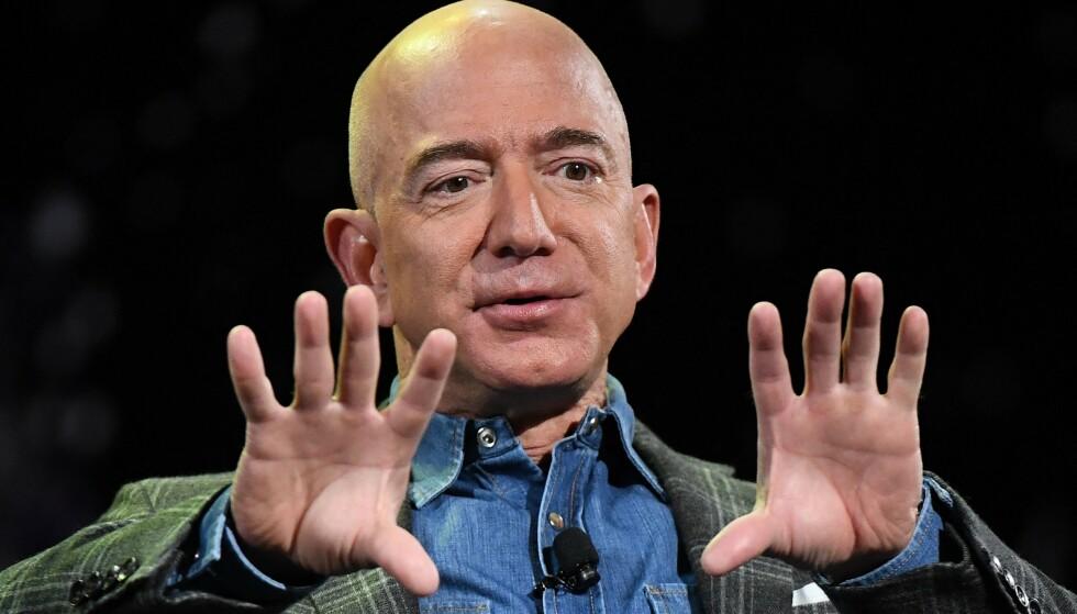 VERDENSROMMET: Om få dager - på samme dato som den første månelandingen: 20. juli - er det duket for Jeff Bezos sin tur til verdensrommet om bord i Blue Origins romfartøy. Foto: Mark RALSTON / AFP / NTB