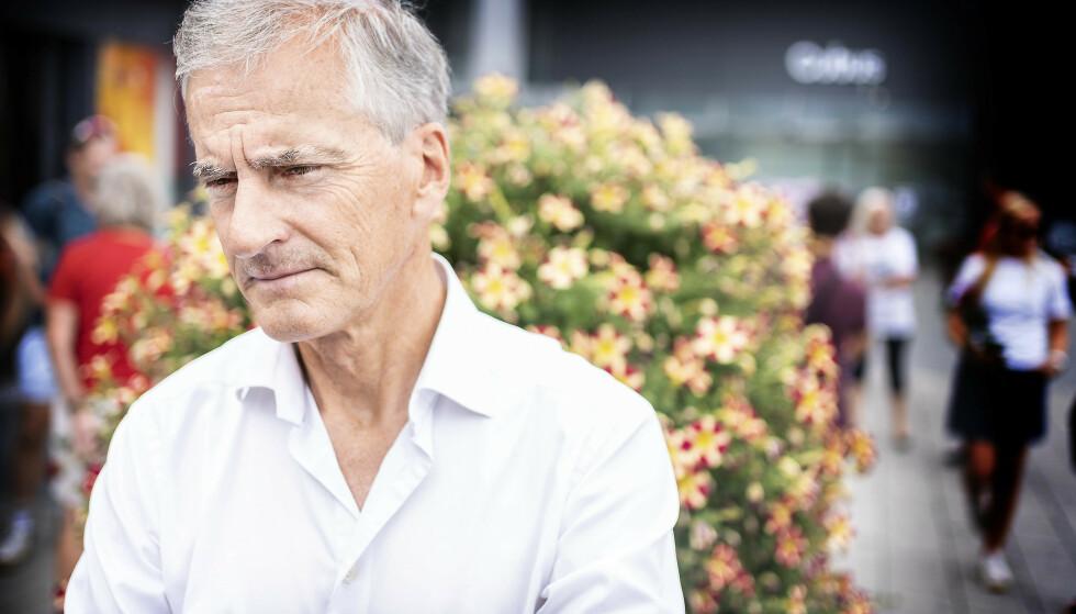 VIL HA FORMUESSKATT: Jonas Gahr Støre tror Gustav Witzøe fint har råd til å betale formuesskatten Ap vil ha fra ham. Foto: Hans Arne Vedlog / Dagbladet