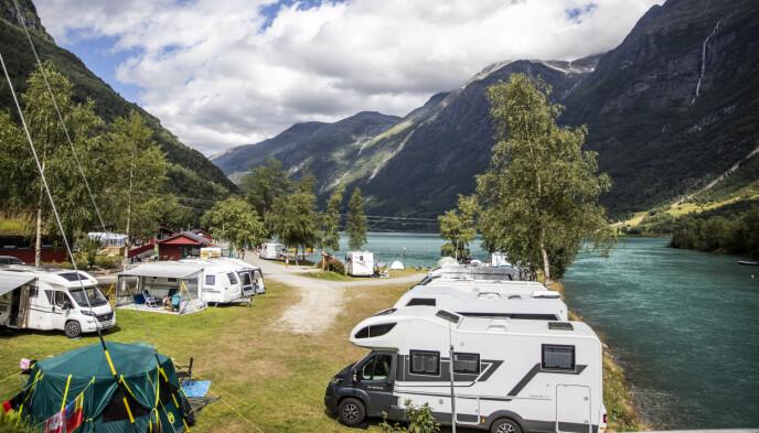 MILLIONTALL: For andre gang siden SSB startet med å registrere overnattinger på campingplasser i 1968, var det flere enn en million norske overnattinger i juni. Foto: Christian Roth Christensen / Dagbladet