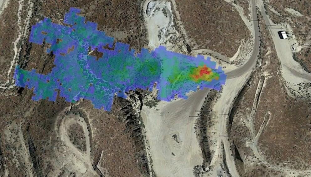 LEKKASJE: Metanutslipp forårsaket av mennesker har «skylda» i en fjerdedel av den globale oppvarmingen. Å tette lekkasjer, som denne oppdaget av Nasa i 2020, kan gjøre jobben enklere. Foto: Nasa