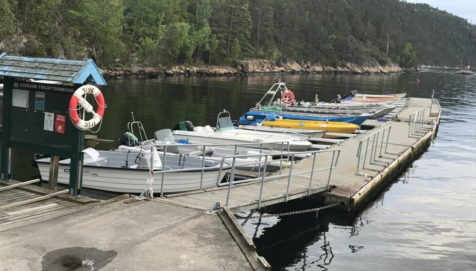 STRIDENS KJERNE: Alværn Småbåthavn står på gyngende grunn. Det er stor uenighet om bryggas framtid. Foto: Privat