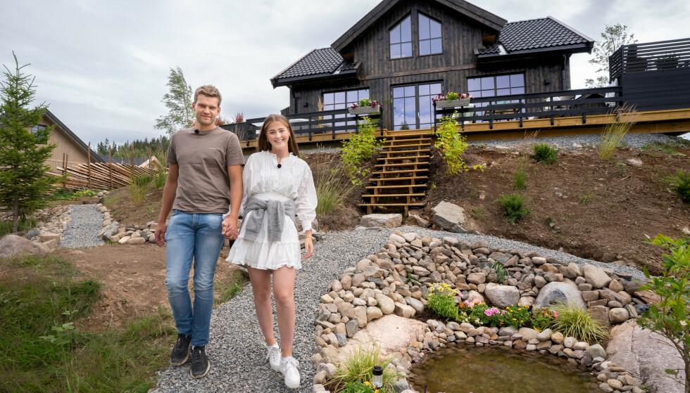 SOLGT: Nå er hytta til Jone og Anna solgt til den nette sum av 4,1 millioner kroner. Foto: TV 2