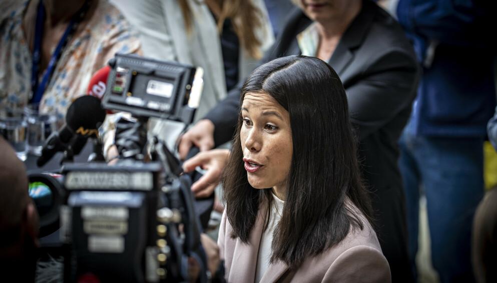 SLAKTET RAPPORT: Lan Marie Berg (MDG) gikk hardt ut mot klimarapporten fra Rystad Energy. Foto: Bjørn Langsem / Dagbladet