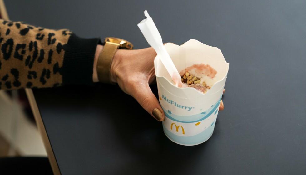 POPULÆR: McFlurry-isen er en velkjent del av hamburgerkjedens varemerke. Foto: ANP / Scanpix