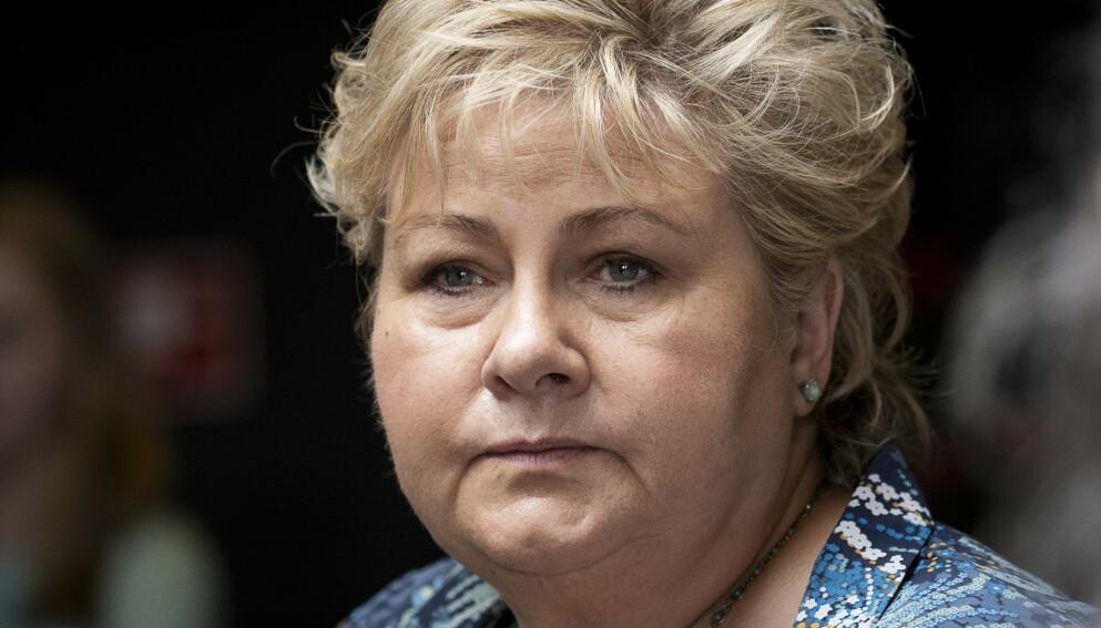 STRYK: Et stort flertall mener Erna Solberg (H) ikke stilte nok krav til bedriftene som fikk krisestøtte under pandemien. Foto: Lars Eivind Bones / Dagbladet