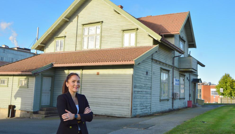INGEN NAPP: Tidligere i år ble dette huset forsøkt gitt bort gratis. Nå har Borregaard sendt søknad om å få rive bygget. Foto: Privat