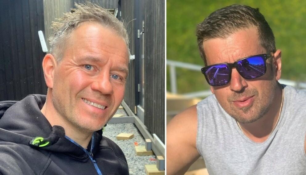 JOBBET GRATIS: David Øynes (tv) og Arne Knudsen (th) tok et valg da kunden deres plutselig satt med skjegget i postkassa. Foto: Privat