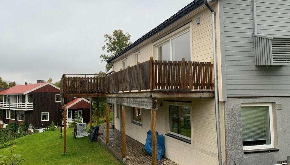 FERDIG: Slik så det ut 8. september da husprosjektet var ferdig. Foto Privat