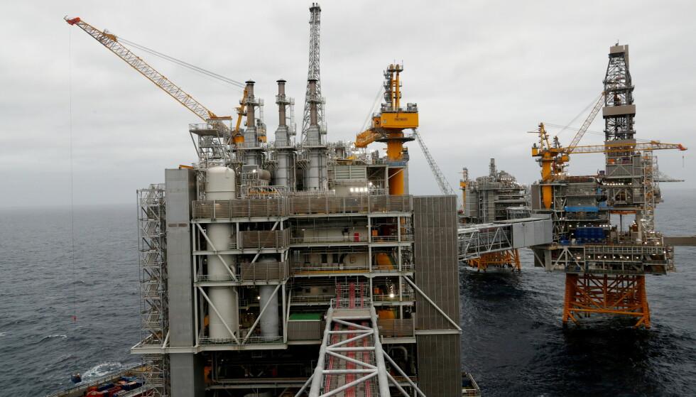 PENGEMASKIN: Johan Sverdrup-feltet åpnet i 2019. Etter 16 måneder var investeringen på 83 milliarder tjent inn. Foto: Ints Kalnins / Reuters / NTB