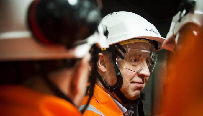 FRYKTER IKKE MILJØPARTIENE: Leder for Industri Energi, Frode Alfheim, er ikke bekymret for at SV skal få store gjennomslag på oljenæringen i en eventuell regjering. Foto: Carina Johansen / NTB